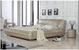 Hamburg Cream Italy Leather Bed Frame L. H8090