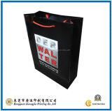 Glossy Lamination Black Paper Handbag (GJ-Bag051)