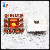 Fashion Decorative Rhinestone Square Plastic ABS Button