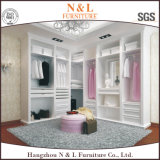 N&L Bed Room Furniture Wooden Wardrobe/Closet in White Color