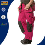 Womens Cerise Durable Knee Pads Cargo Pants