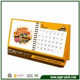 High Quality Custom Yellow Cartoon Desk Paper Calendar