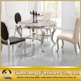 Most Popular Round Marble Stainless Steel Dining Tables