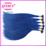 Wholesale Italy Glue 100% Blue Color Brazilian Human Keratin Hair U Tip Extensions