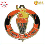 Custom Cheap Inner Cut out Metal Medal for Ice Cream