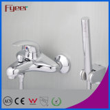 Fyeer Solid Brass Wall Mounted Bath Shower Faucet with Diverter
