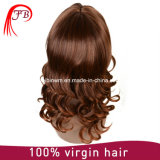 Malaysian Fashion Brown Hair Wig Bob Bangs Human Hair Wig Manufacturer in China