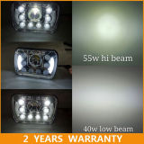 Angel Eyes LED Headlight 7X6 LED Headlight for Jeep with 2 Years Warranty