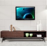 MDF with Walnut Wood Veneer TV Stand &Cabinet (TV027)