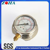 Stainless Steel Case Glycerin Filled Pressure Gauge with Brass Socket