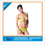 Womens Neon Grenn Printed Bikini with Moulded Cup