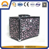 Beauty Fashionable Leopard Makeup Vanity Case with Mirror (HB-1007)