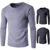 Man′s Round Neck Long Sleeve Acrylic Cotton Pullover Sweater