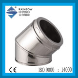 Twin Wall Twist Lock Stainless Steel 45 Degree Elbow for Chimney