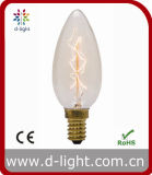 Chandelier 25W 40W E14 Vintage Antique Decorative Clear Amber Gold C35 C35t Candle Flame Tailed Edison Bulb
