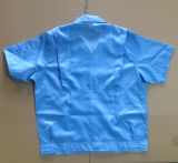 Unisex Design Cleanroom Blue ESD Working Shirt