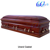 Golden Trim Cheap Burial Wooden Casket Casket and Coffin