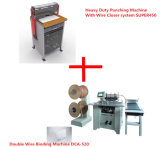 Electric Heavy Duty Punch Machine and Double Wire Binding Machine (SUPER450&DCA-520)