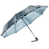 Animal Skin Print Windproof Fold Umbrellas (YS-3FD22083907R)