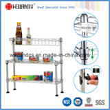 3 Tiers DIY Chrome Mini Kitchen Saucing Rack (CJ-C1182)
