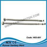 Flexible Hose in Stainless Steel Wires Braided for Mixers (H02-001)