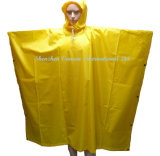 Light Yellow Rain Poncho/ Rainwear with Hood