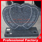 European Aurora Red Granite Headstone with Heart Shape