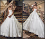 Sweetheart Lace Bridal Ball Gowns Puffy Tulle Custom Made Wedding Dress G1789