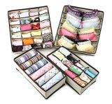 Fabric Dresser Drawer Storage Organizer for Underwear, Socks, Bras, Tights,