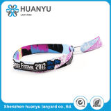 Elastic Fabric Color Fitness Woven Wristband for Festival