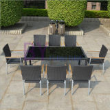 Outdoor Garden Simple Style PE Rattan Dining Table and Chair