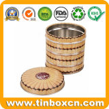 Food Safe Round Metal Tin Can for Biscuits Cookies Snacks