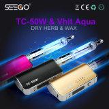 Seego Brand E-Cigarette Vhit Aqua & Tc-50W Rebuiltable Dry Herb Wax Atomizer