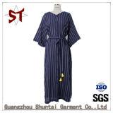 Custom Fashion Stripes Elegant Ladies Long Dress