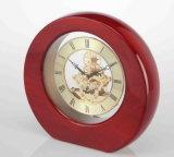 Novelty Wooden Desk Clock K3003A Skeleton Clock Kit for Business Souvenir Gift and Giveaways