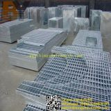 Hot Dipped Galvanized Stainless Steel Drainage Platform Floor Walkway Stair Serrated Flat Bar Grating