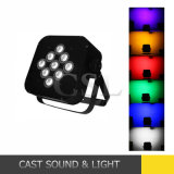 Stage Lighting 9PCS*15W LED Flat PAR with Battery and Wireless