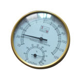 Golden Sauna Room Metal Thermometer and Hygrometer