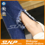 New Fashion Woman High Waist Jean Pants with Hole