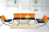 Modern Design Metal Steel Leather Office Sofa (9001)
