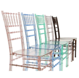 Wedding Modern Hotel Furniture Stacking Clear Acrylic Resin Chiavari Chair