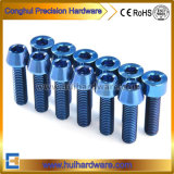 Gr5 Socket Cap/Tapper Head Titanium Bolt Blue