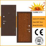 Modern Wooden MDF Interior Steel Security Door (SC-A208)
