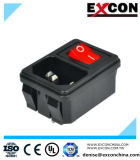 Switched Socket Outlet with Red Light Excon S-03-12s