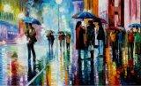 100% Handmade Street Landscape Oil Painting (KVP-015)