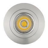 Lathe Aluminum GU10 MR16 Round Fixed Recessed LED Spotlight (LT2112)