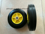 10X2 Yellow Solid Rubber Wheel