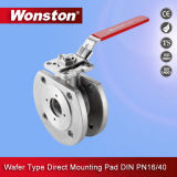 Stainless Steel 1PC Wafer Flanged Ball Valve with Pn16/40