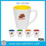 White Wholesale Color Inside Ceramic Drinking Cup