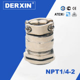 NPT1/4-NPT2 Dustproof Waterproof Tensile Resistance EMC Metal Cable Gland